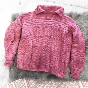 Sweaters - Preppy Knit Collared Pullover Sweater XS/Small